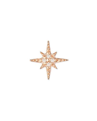 Starburst Diamond Single Stud Earring