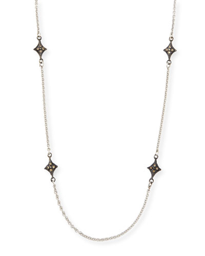 New World Cravelli-Station Necklace with Champagne Diamonds
