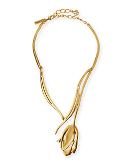 Delicate Golden Tulip Necklace
