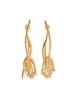 Delicate Tulip Golden Earrings