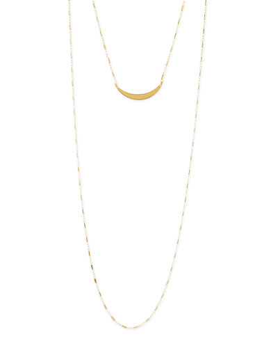 Pippa Gold Vermeil Moon Layered Necklace