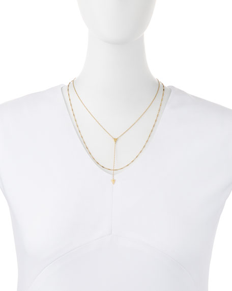 Poppy Layered Triangle Necklace