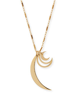 Raven Triple-Moon Charm Necklace