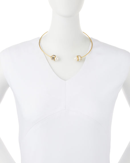 Lana Pearly Crystal Collar Necklace
