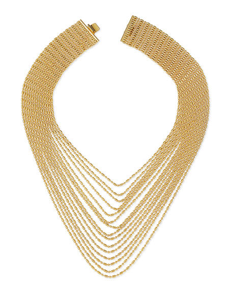 Leighton Multi-Strand Chain Necklace