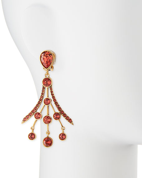 d9d6e2321 Oscar de la Renta Crystal Fan Drop Earrings. Crystal Fan Drop Earrings. Crystal  Fan Drop Earrings