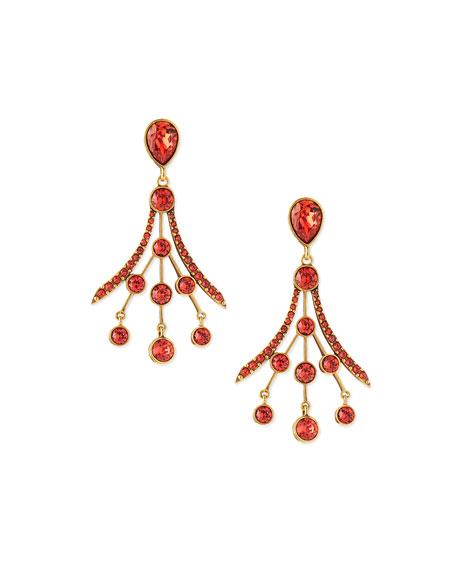 24c5d35de Oscar de la Renta Crystal Fan Drop Earrings