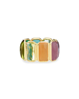 18k Rock Candy Fancy Rectangle Lollipop Ring