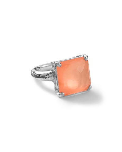 Wonderland Silver Square Ring