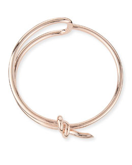 Rose Golden Knot Collar Necklace