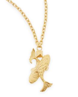 Golden Pisces Zodiac Necklace, 36