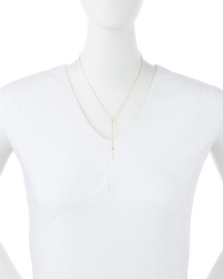 14k Gold Bar Pendant Necklace with Diamond