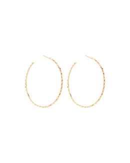 14k Large Glam Sunrise Hoop Earrings