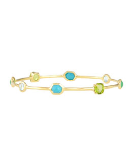 18K Rock Candy Mixed-Stone Bangle