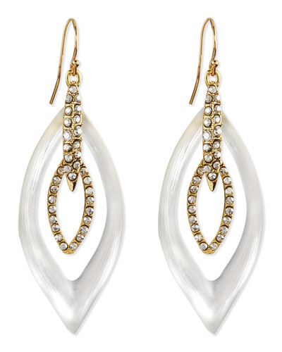 Jardin Mystere Lucite & Crystal Earrings