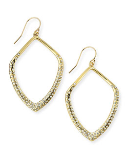 Golden Crystal Kite Earrings