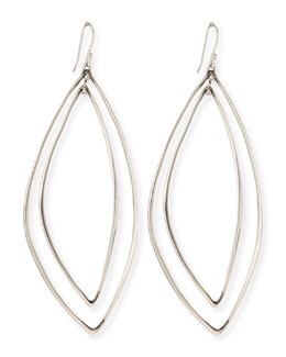 Marquise Light Silver Orbit Earrings