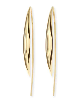 18k Medium Marquise Kidney Earrings