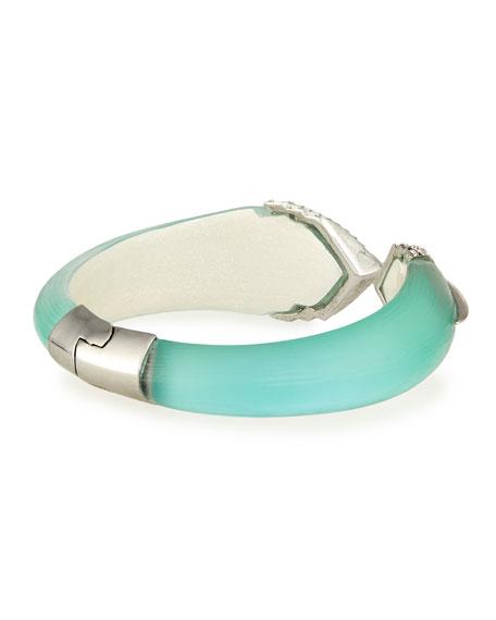 Lucite & Crystal Hinge Bracelet