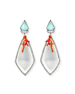Lucite Bedarra Clip-On Earrings