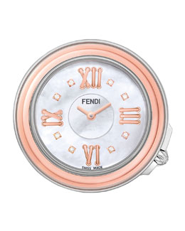 37mm Fendi Selleria Rose Golden & Diamond Watch Head