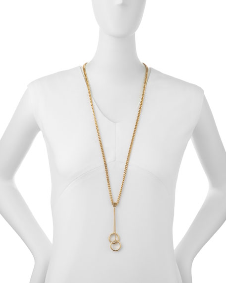 """Carly Pendant Necklace, 34"""""""