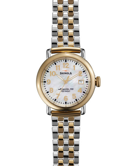 The Runwell Two-Tone Watch with Bracelet Strap, 36mm