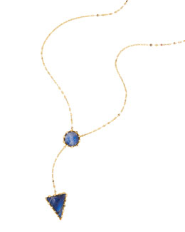 Azzurra 14k Gold Lariat Necklace