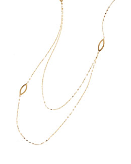 14k Triple Marquise-Station Necklace