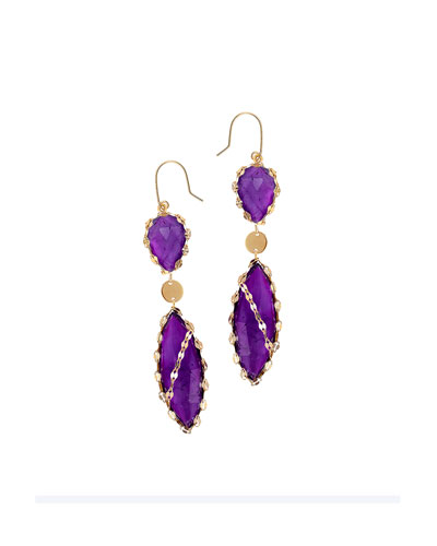 Tulum Mini Amethyst Drop Earrings