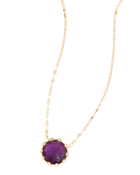Sol Amethyst Charm Necklace
