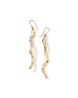 Glamazon 18k Gold Branch Earrings
