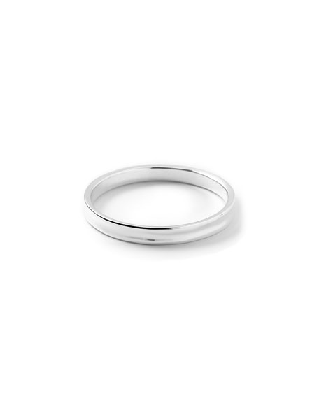 Sterling Silver Glamazon Concave Round Bracelet