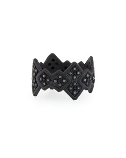 Midnight Cravelli Black Diamond Wide Ring