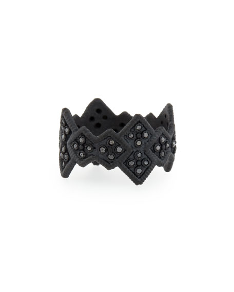 Midnight Cravelli Black Diamond Wide Ring