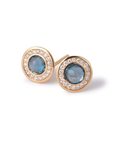 18k Gold Lollipop Mini Stud Earrings