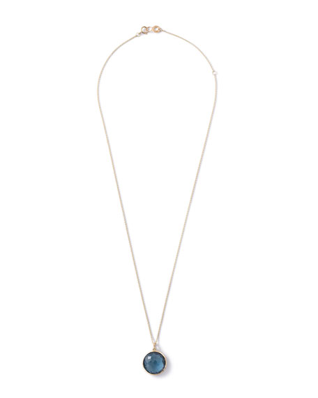 18k Lollipop Medium Round Pendant Necklace