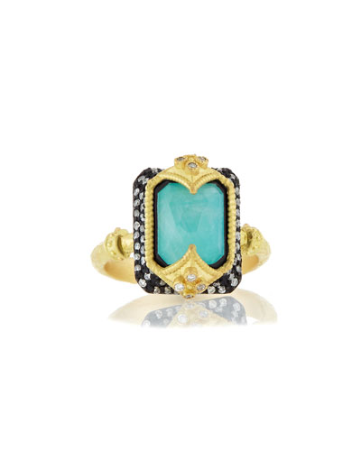 Old World Dulcinea Blue Turquoise Ring