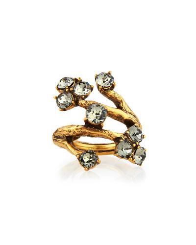 Crystal Branch Ring