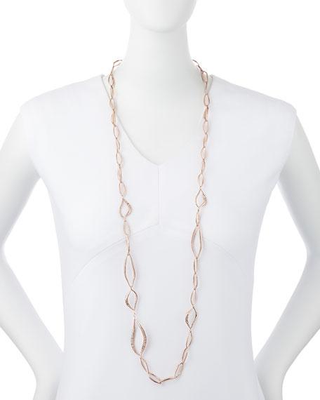 Miss Havisham Rose Golden Liquid Link Necklace