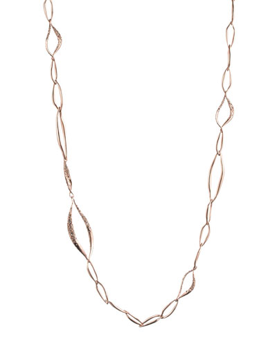 Miss Havisham Rose Golden Liquid Link Necklace