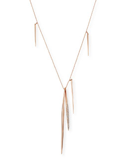 Rose Golden Long Spear Necklace