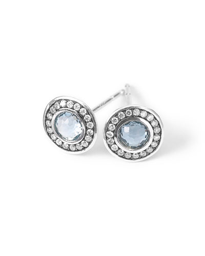 Silver Lollipop Mini Diamond Stud Earrings