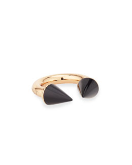 Titan 24k Rose Gold-Plated Onyx Ring