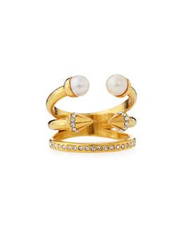 Ultra Pearl & Titan Triple Band Ring