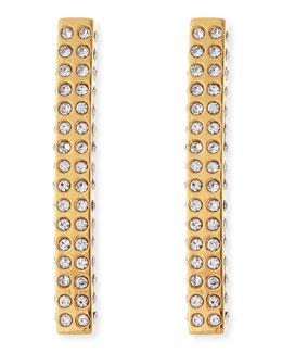 Lia Crystal Bar Earrings, Golden
