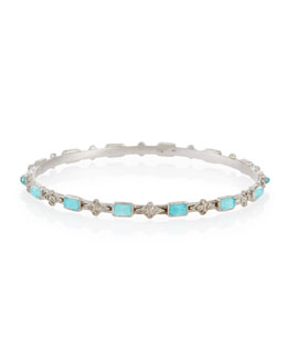 New World Cravelli & Blue Turquoise Bangle