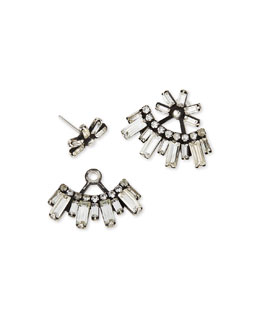 Casper Crystal Jacket Earrings