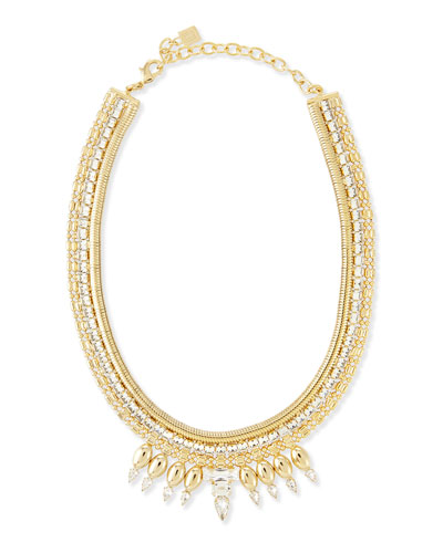 Liev Gold-Plated Crystal Necklace