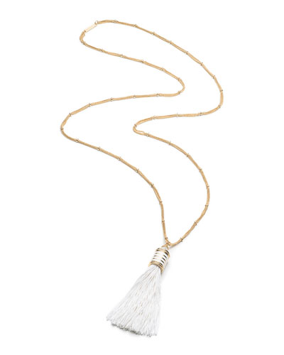 Long Tassel Pendant Necklace, 36""